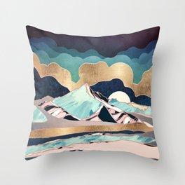Indigo Spring Throw Pillow