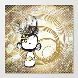 swirl girl Canvas Print