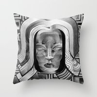 deco Throw Pillows featuring Deco by Mouseizm