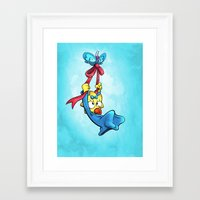 simpson Framed Art Prints featuring Maggie Simpson by Joe McGro