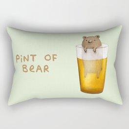 Pint of Bear Rectangular Pillow