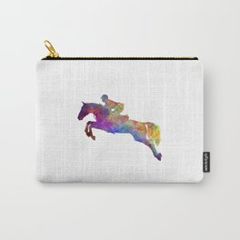 Horse show 06 in watercolor Carry-All Pouch