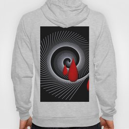 red and white on black -31- Hoody