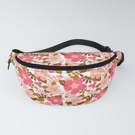 Autumn Hibiscus--White Fanny Pack