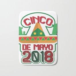 Cinco De Mayo 2018 Celebration Funny Bath Mat