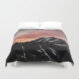 Pink Sky - Cascade Mountains - Nature Photography Duvet Cover