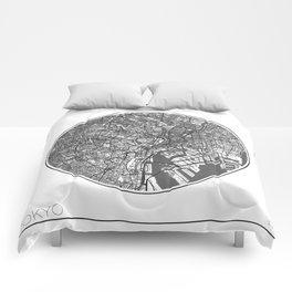 Tokyo Map Universe Comforters