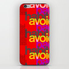 Avoid bad habits. A PSA for stressed creatives. iPhone & iPod Skin