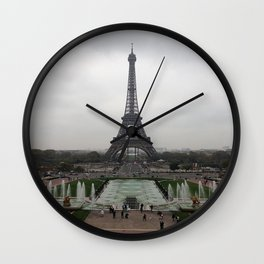 Eiffel Tower, Paris France Photography Wall Clock
