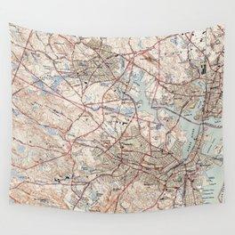 Vintage Map of Salem Massachusetts (1942) Wall Tapestry