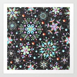 Snowflake Filigree Art Print