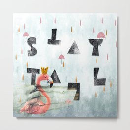 stay tall-flamingo story Metal Print