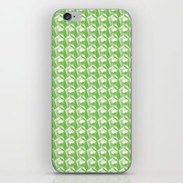 3D Optical Illusion: Green Dodecahedron Pattern iPhone Skin