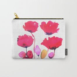Red poppy watercolor Carry-All Pouch