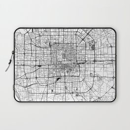 Beijing White Map Laptop Sleeve