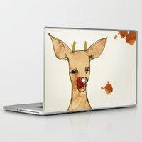 reindeer Laptop & iPad Skins featuring REINDEER by auntikatar