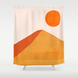 Abstraction_Mountains_SUN_Minimalism_01 Shower Curtain