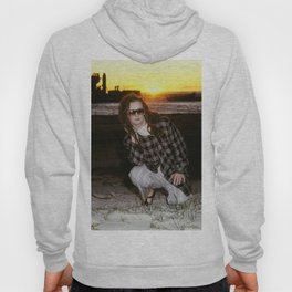 Boy George beach sunset Hoody