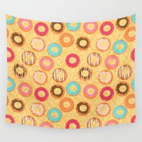 donuts Wall Tapestries featuring Donuts by Alena Rozova