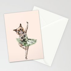 Siamese Ballerina in Cat Ballet  Stationery Cards