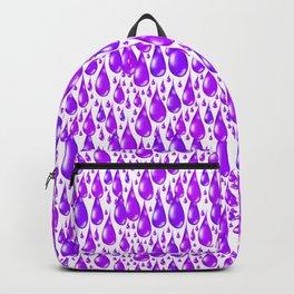 Ultraviolet Purple Rain Drops Backpack