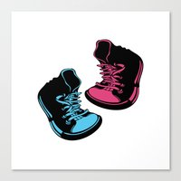 sneakers Canvas Prints featuring Sneakers by Cindys
