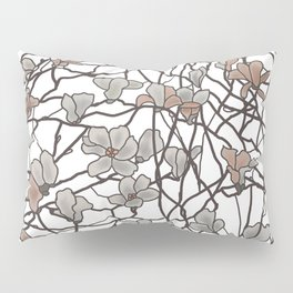 Pattern of Branches in Pastel Colors Art Pillow Sham