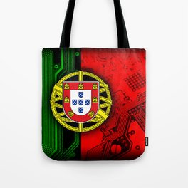 circuit board Portugal (Flag) Tote Bag