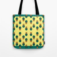 pineapples Tote Bags featuring PINEAPPLES by Heaven7