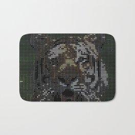 ASCII-Art Tiger Bath Mat