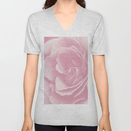 Light Pink Rose #2 #floral #art #society6 Unisex V-Neck