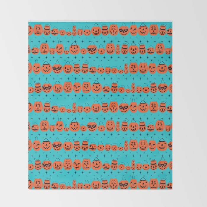 Trick or Treat Smell My Feet- Turquoise Throw Blanket