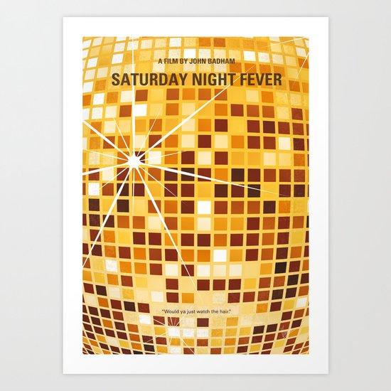 No074 My saturday night fever minimal movie poster Art Print