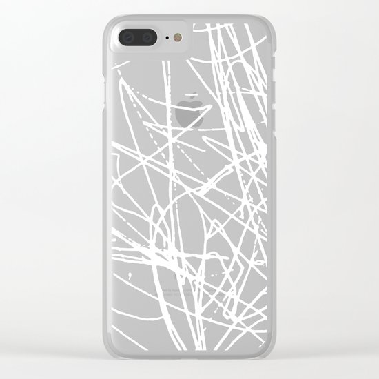 Daisy Scribble Black Clear iPhone Case