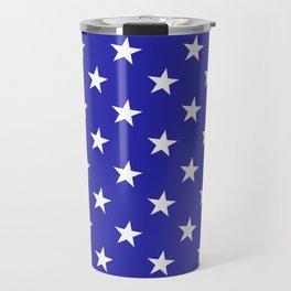 Stars (Navy & White Pattern) Travel Mug