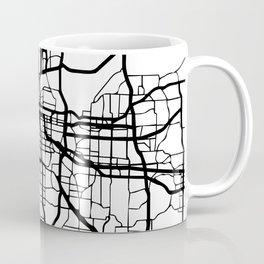 KANSAS CITY MISSOURI BLACK CITY STREET MAP ART Coffee Mug