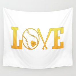 Love softball Wall Tapestry