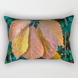 Nature Season Autumnal Leaves Rectangular Pillow