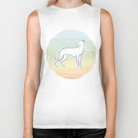 greyhound Biker Tanks featuring Greyhound by tuditees