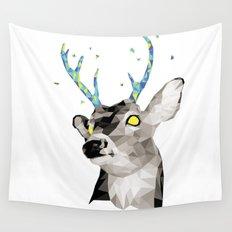 Geosafari | Deer (White) Wall Tapestry