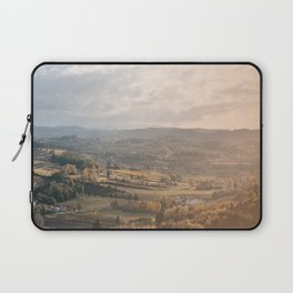 Beautiful autumn landscape in Tuscany Laptop Sleeve