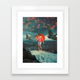 The Boy and the Birds Framed Art Print