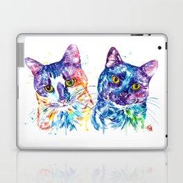2 Kitties Hanging Out Laptop & iPad Skin