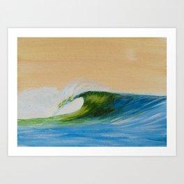 Simple Single Wave Art Print