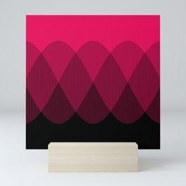 Bright red to Black Ombre Signal Mini Art Print