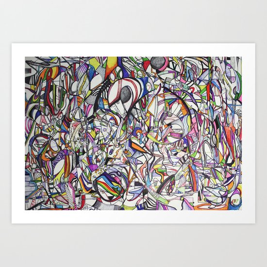 Chromatic Collisions Art Print
