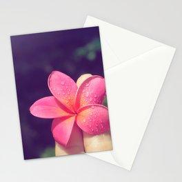 pua melia pink tropical plumeria hawaii Stationery Cards