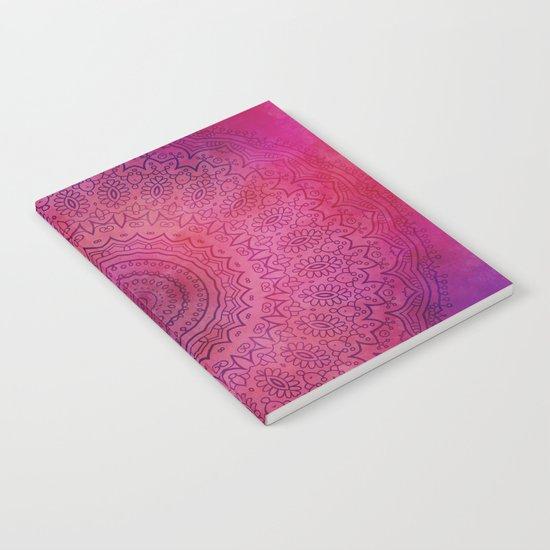 Watercolor Mandala Red Notebook