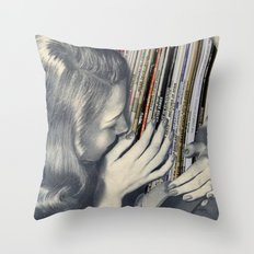 mrs. Vinyl Throw Pillow