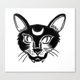 Lunar Cat Canvas Print